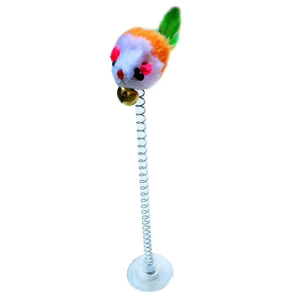 Cat Interactive Toy Stick Feather Wand With Small Bell