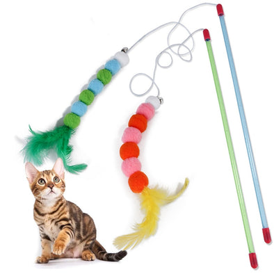 New Funny Cat Stick Feather Toys