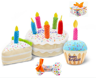 Cute Birthday Cake plush pet Toys