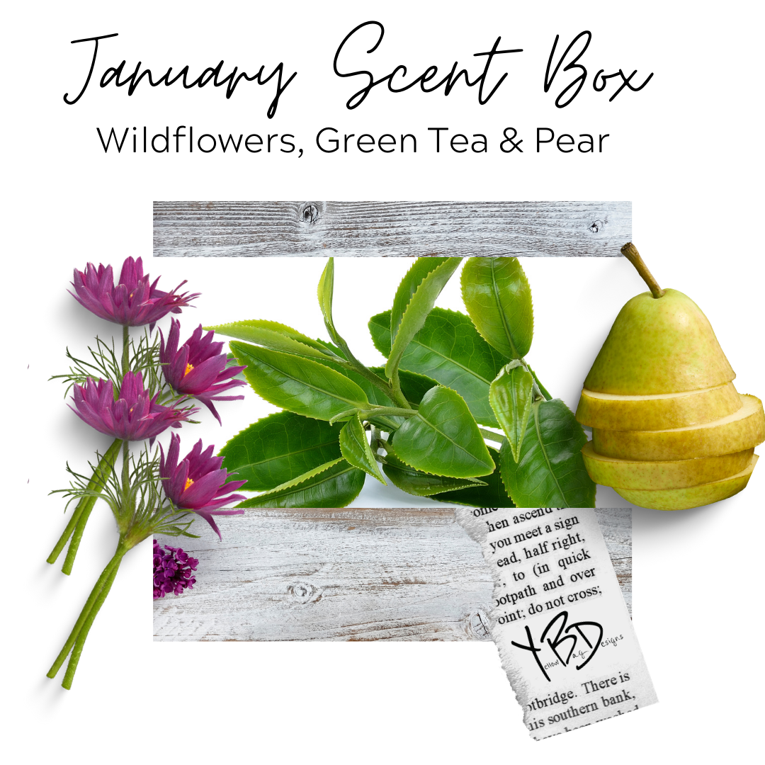 January 2021 Scent Box -Wildflowers, Green Tea & Pear