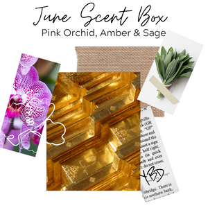 June Scent Box - Pink Orchid, Amber & Sage