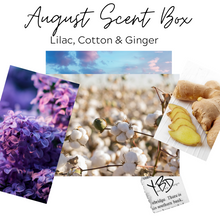 August Scent Box - Lilac, Cotton & Ginger