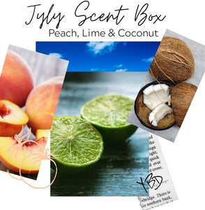 July Scent Box - Peach, Lime & Coconut