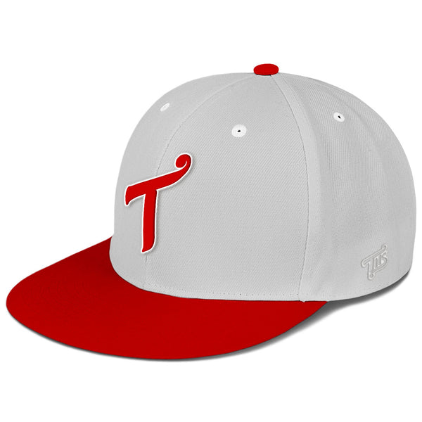 T Logo Red / Grey Snapback Hat