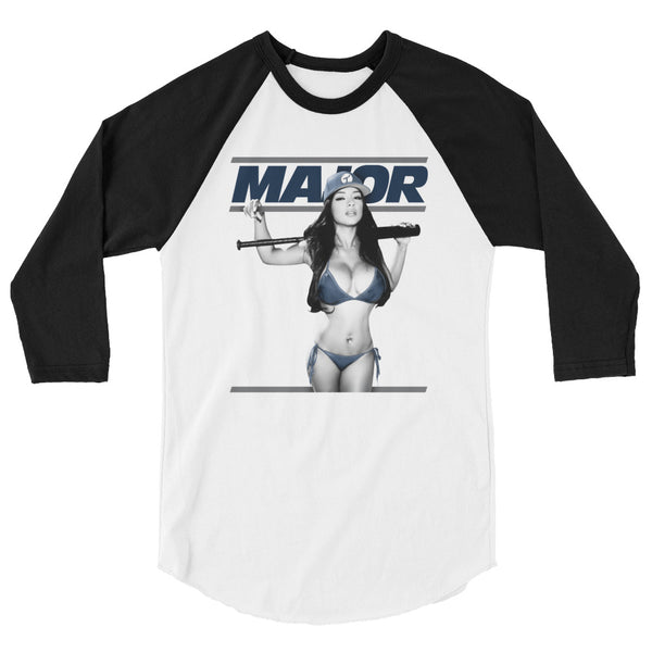 Major New York 3/4 sleeve raglan shirt