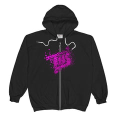 Purple Exploded Logo Unisex  Zip Hoodie