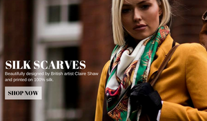 Claire Shaw Silk Scarves