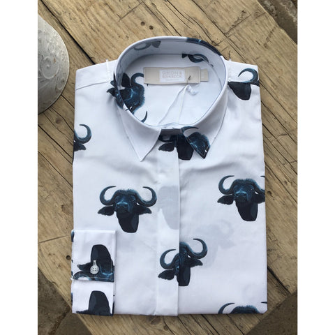Gibson and Birkbeck Buffalo Print Shirt