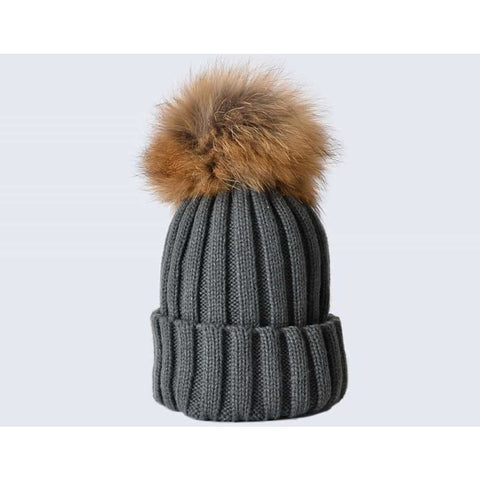 Amelia Jane Single Fur Pom Pom hat