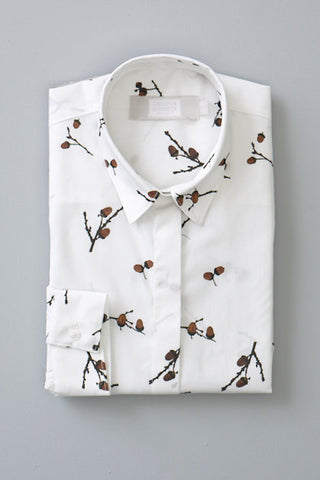 Gibson and Birkbeck Acorn Print shirt