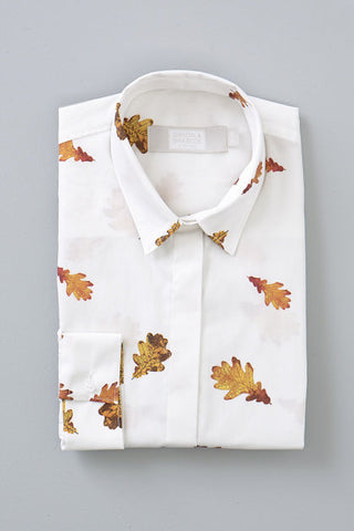 Gibson and Birkbeck Oak leaf printed shirt
