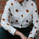 Gibson and Birkbeck Squirrel Print Shirt