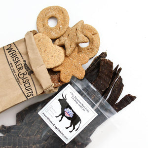 Beef Jerky and Assorted Biscuits (Ships Free!)