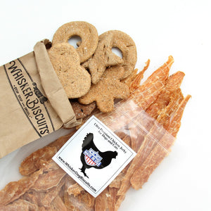 Chicken Jerky and 18 Assorted Biscuits (Ships Free!)