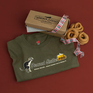 Peanut Butter Poo T-shirt and Poo Treat Holiday Bundle for Men
