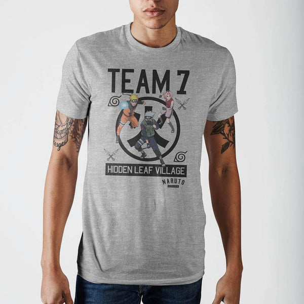 Team 7 Konohagkure Mens Siro T-Shirt