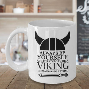 Black And White Viking Mug