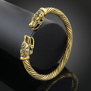 ORIGINAL Wolf Head Viking Bracelet