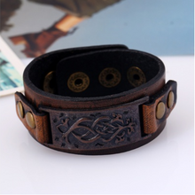 Classic Viking Leather Bracelet