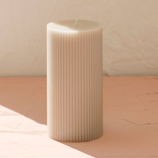 Parchment Pillar Candle