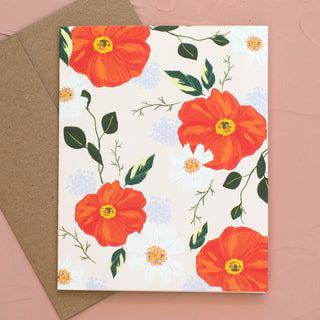 Red Poppies Card