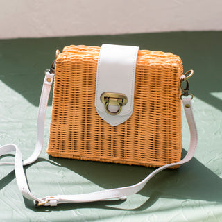 Wicker Crossbody Purse