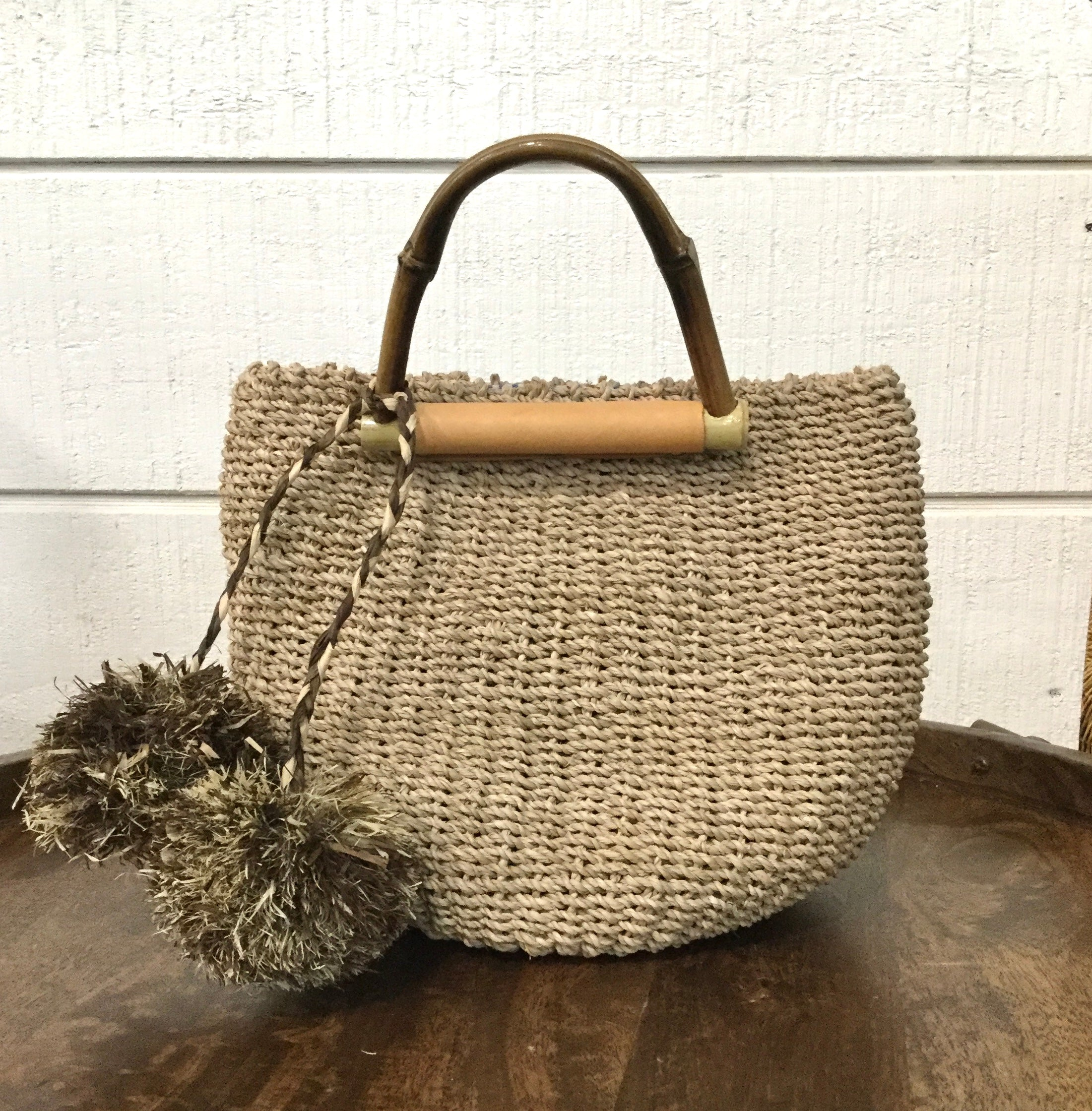 Sea Grass Poof Handbag
