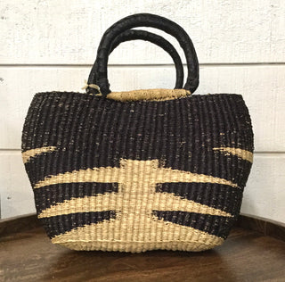 Tiger Straw Handbag