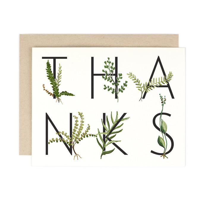 Botanical Thanks Card