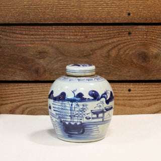 Blue and White Mini Jar