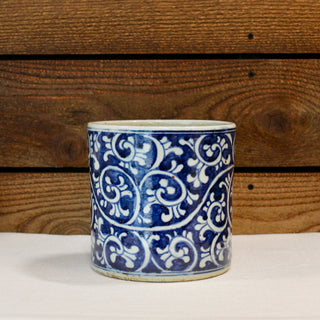 Blue and White Vine Pot