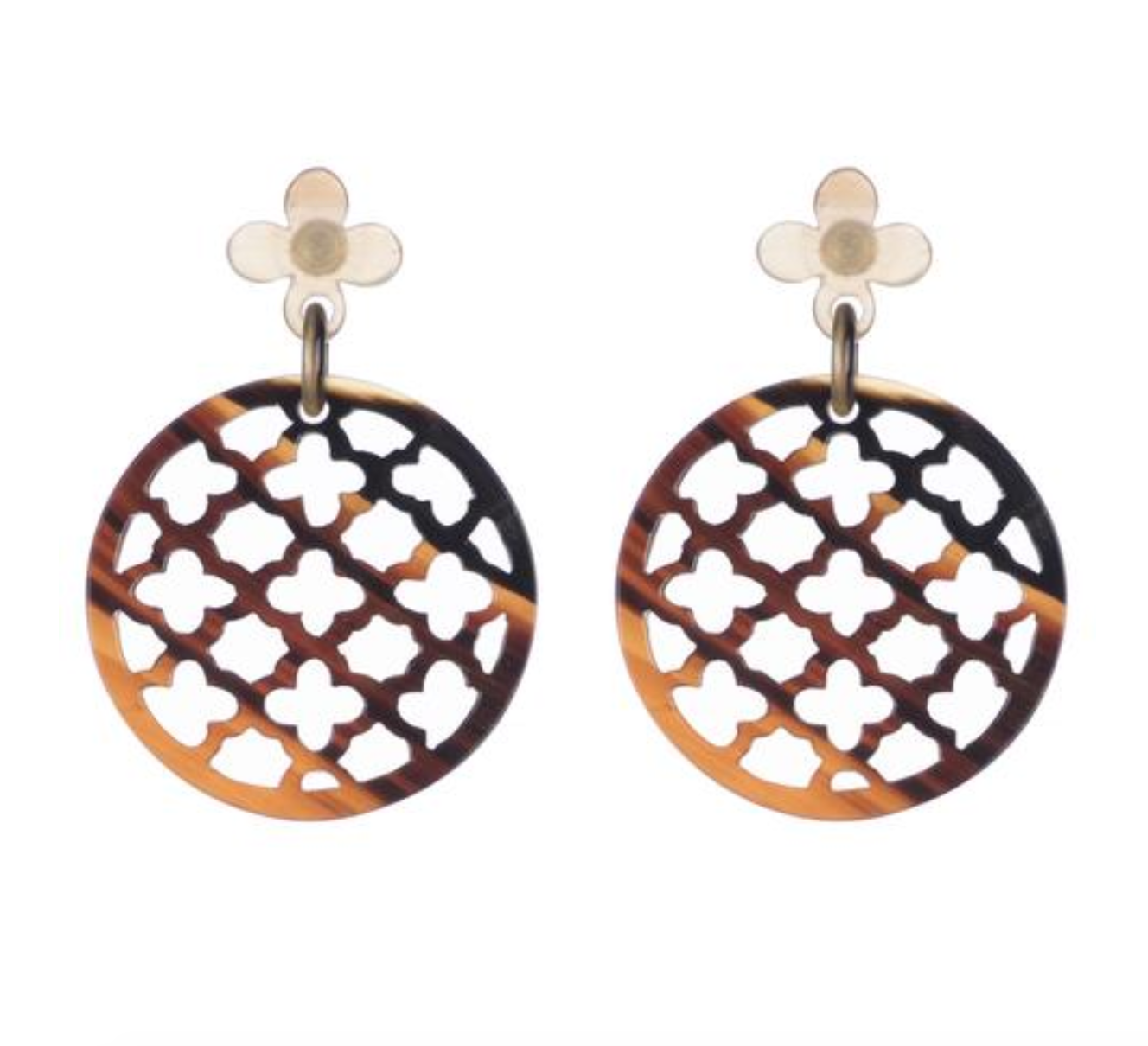 Dark Honey Lattice Earrings