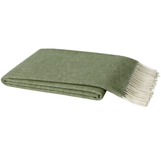Olive Italian Herringbone Throw