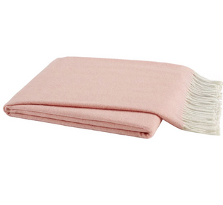 Blush Italian Herringbone Throw