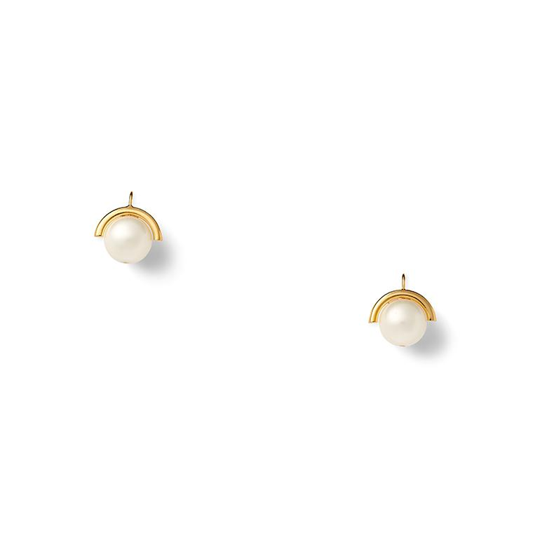 Medium Sphere Pearl Earring