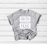 Faith Over Fear Travel Tee - Grey