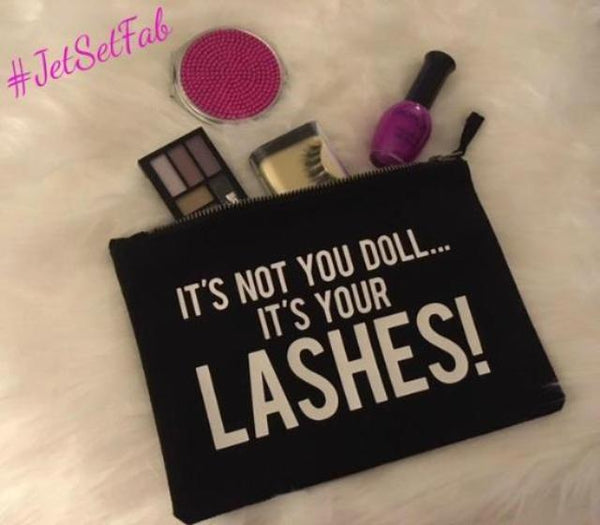 'It's Your Lashes' Makeup Bag