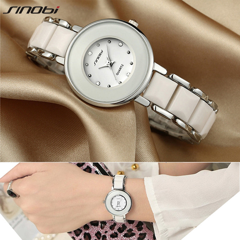 Luxury Fashion Metal  Women Watch