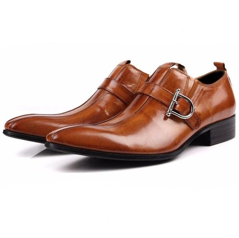 Genuine leather business shoes
