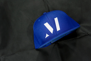 M logo Snapback-Royal Blue/White