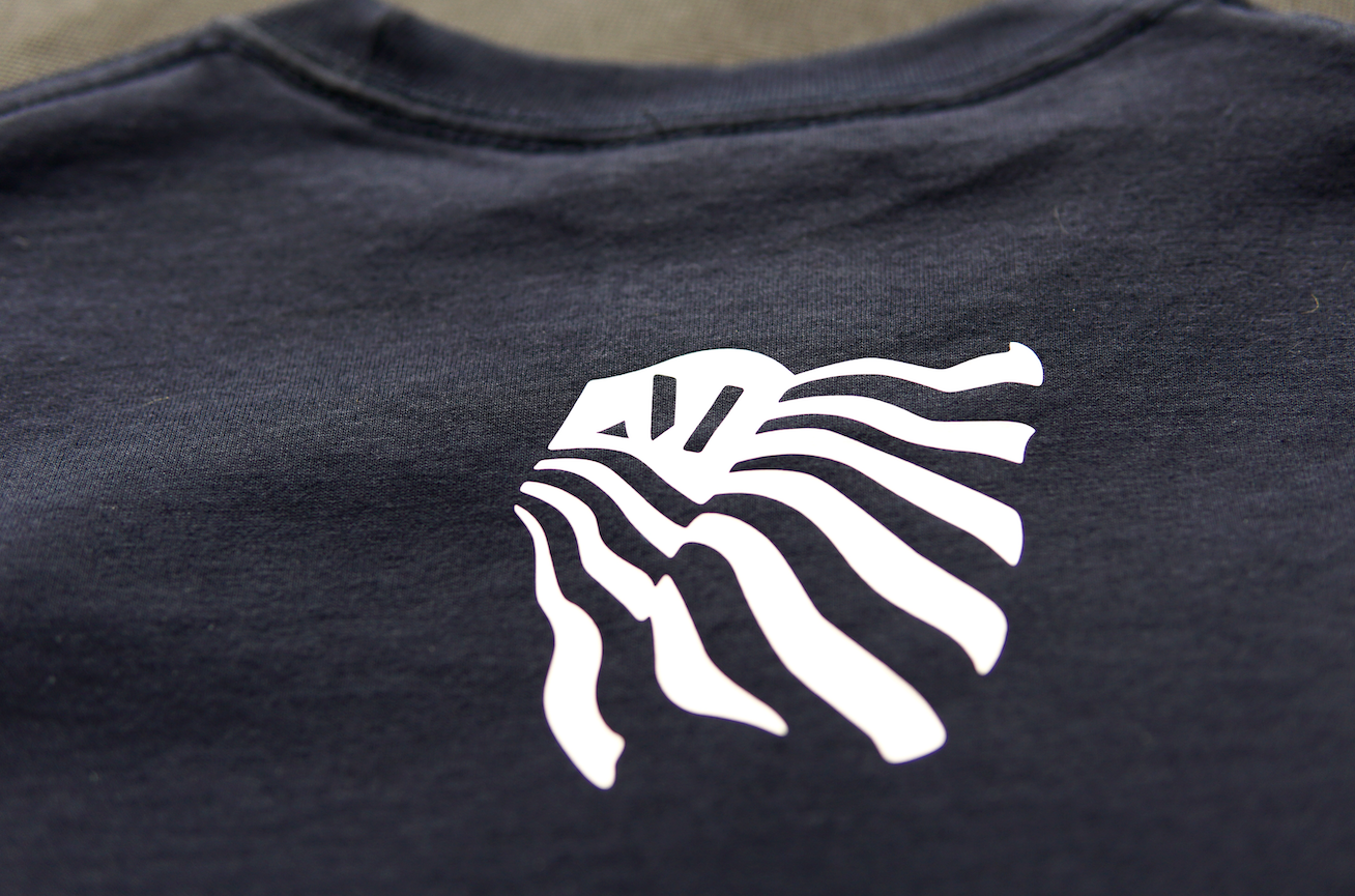 East Austin tee Navy/White