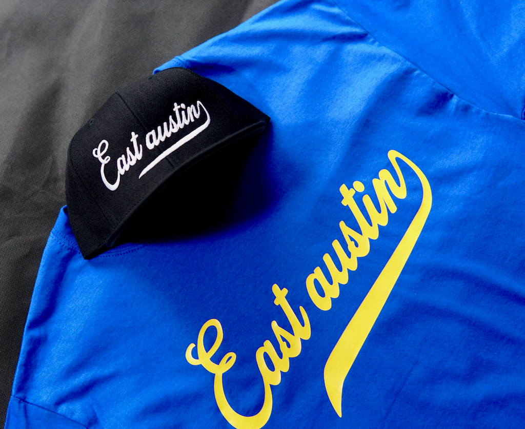 East Austin tee Royal/Gold
