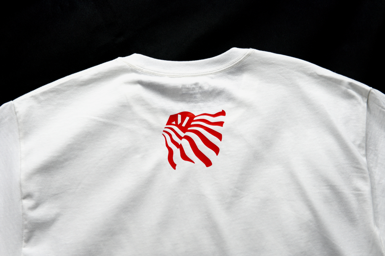East Austin tee White/Red