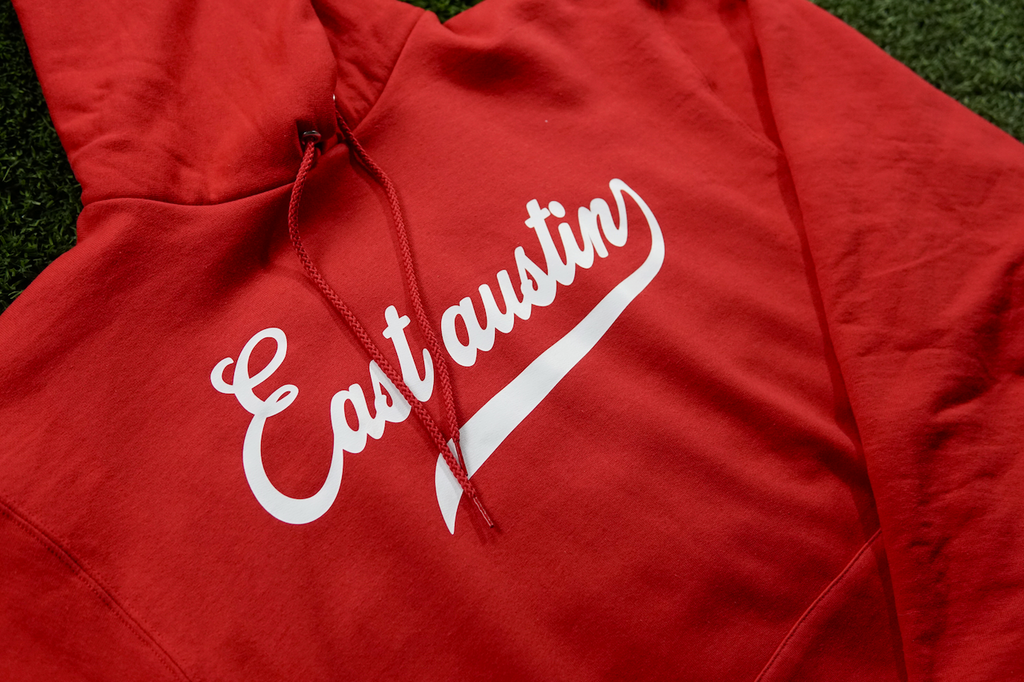 East Austin Hoodie Red/White