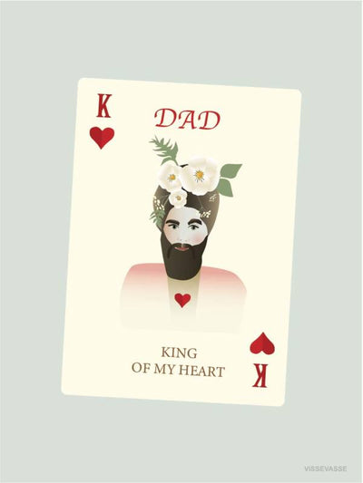 Dad - King of my Heart kort