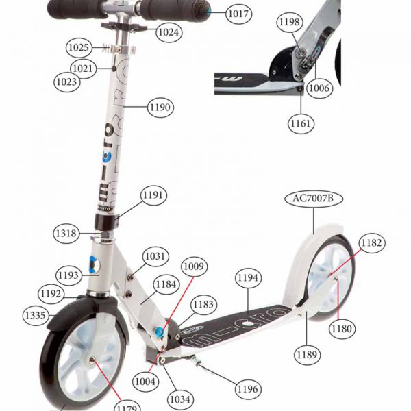 Scooter White / Freno