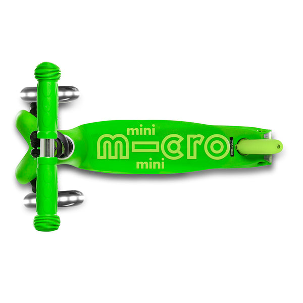 Mini Deluxe LED Verde / Scooter de niño