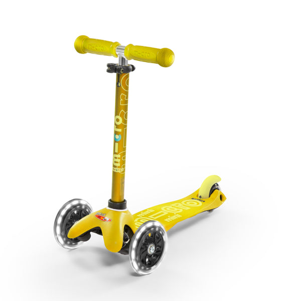 Micro Scooter Mini Deluxe LED Amarillo