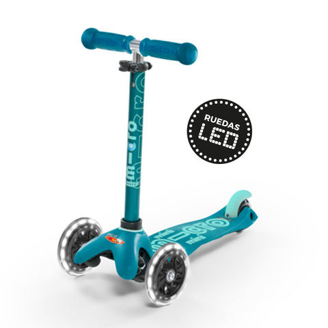 Micro Scooter Mini Deluxe LED Aqua