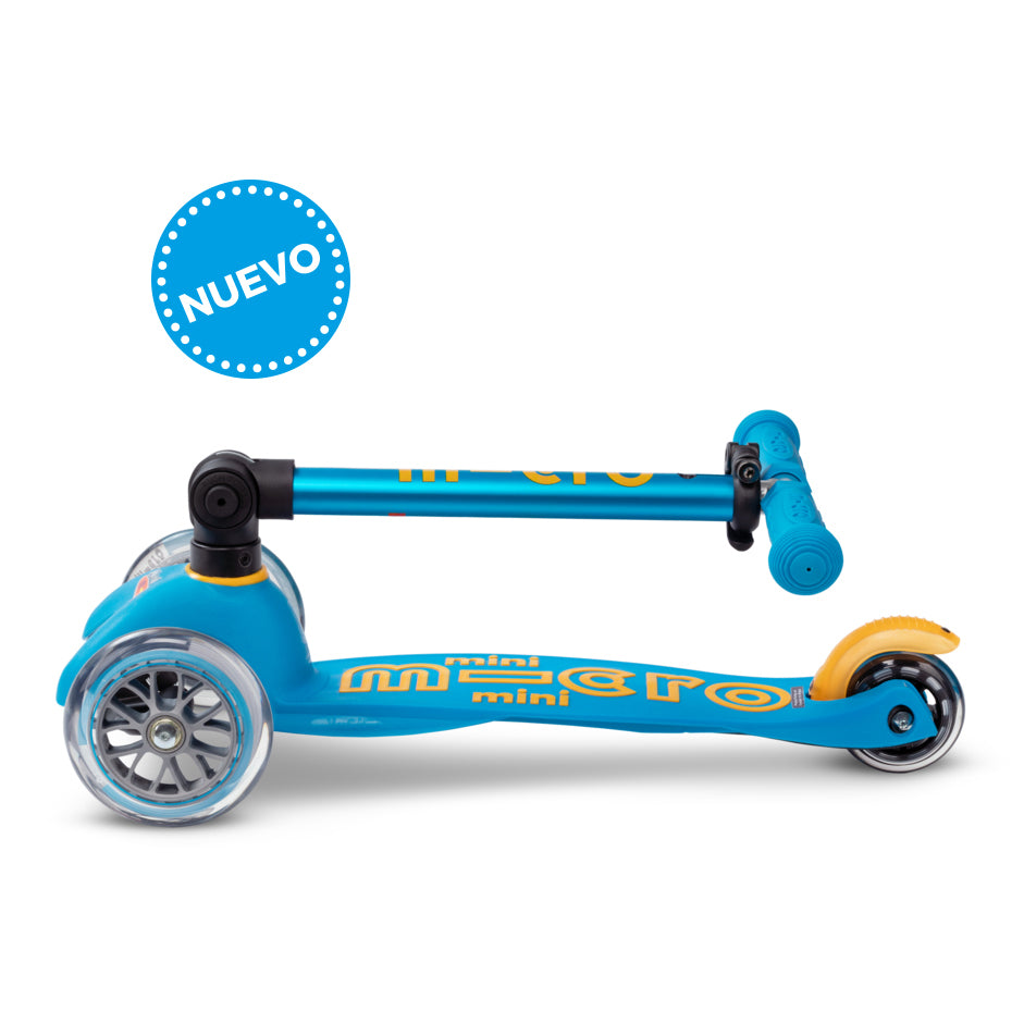 Micro Scooter Mini Deluxe PLEGABLE Ocean Blue